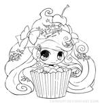 Cupcake Girl Lineart