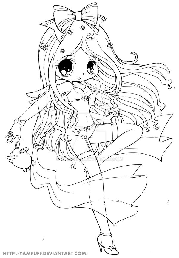 Naughty angel lineart by yampuff on deviantart for Anime angel coloring pages