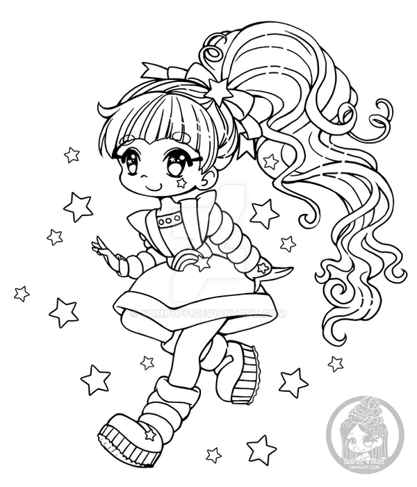 Rainbow Brite Chibi Lineart Update By Yampuff On