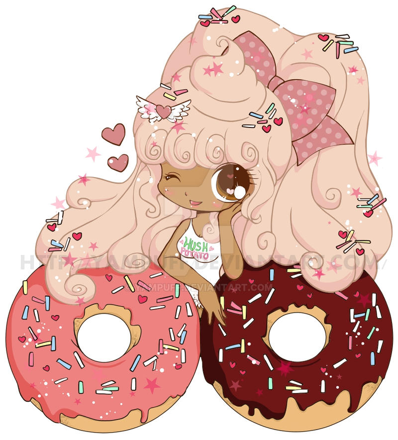 2nd Donut Girl Commish by YamPuff