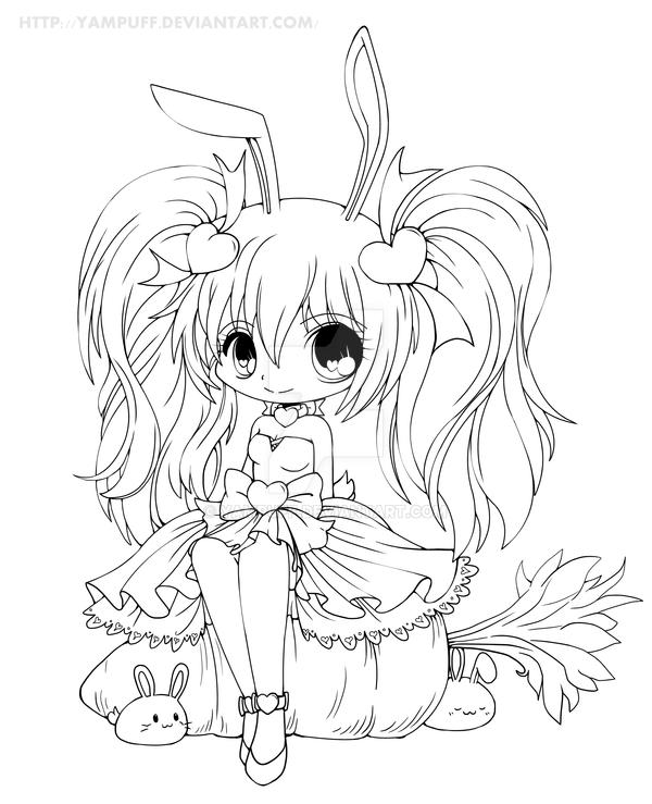 Yam Puff Kleurplaat Kasumi Lineart By Yampuff On Deviantart