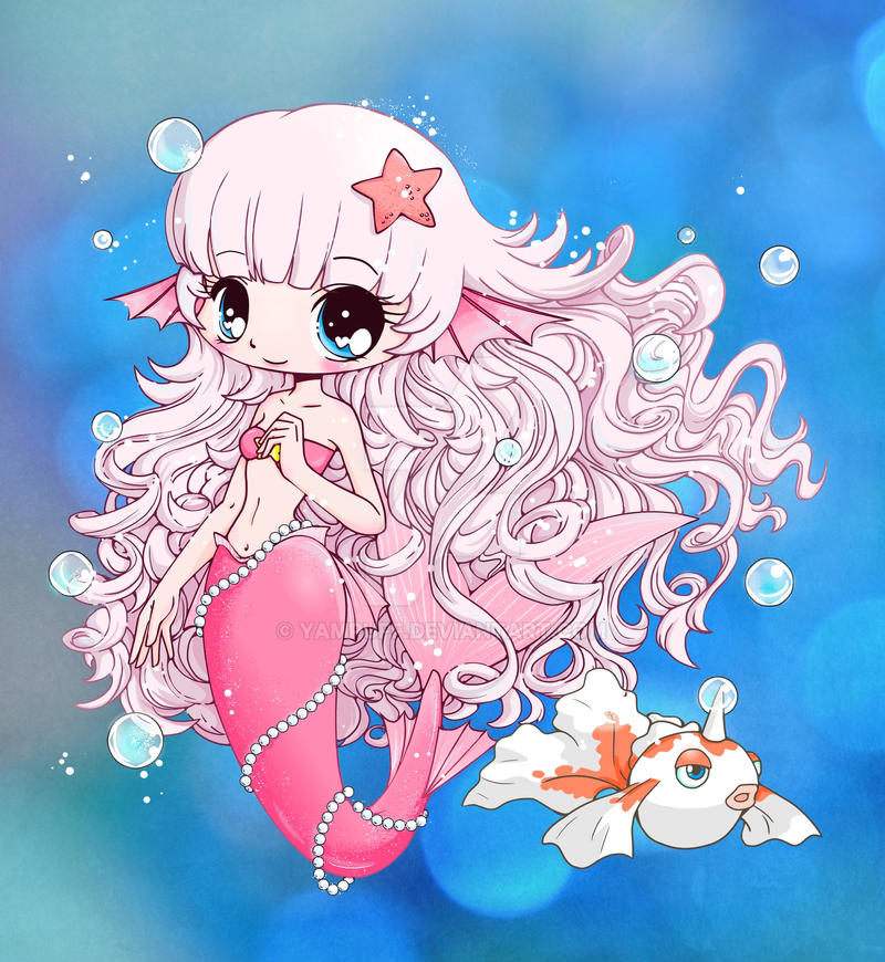 chibi pretty mermaid coloring pages - photo#24