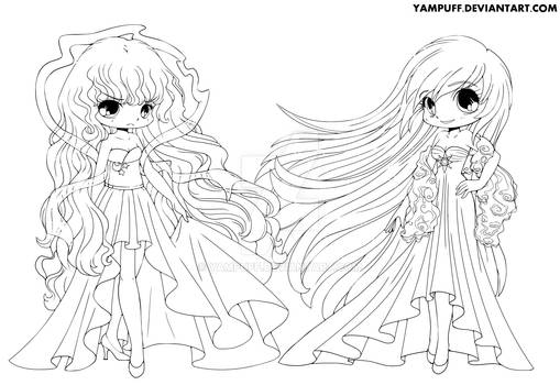 Day and Night Lineart