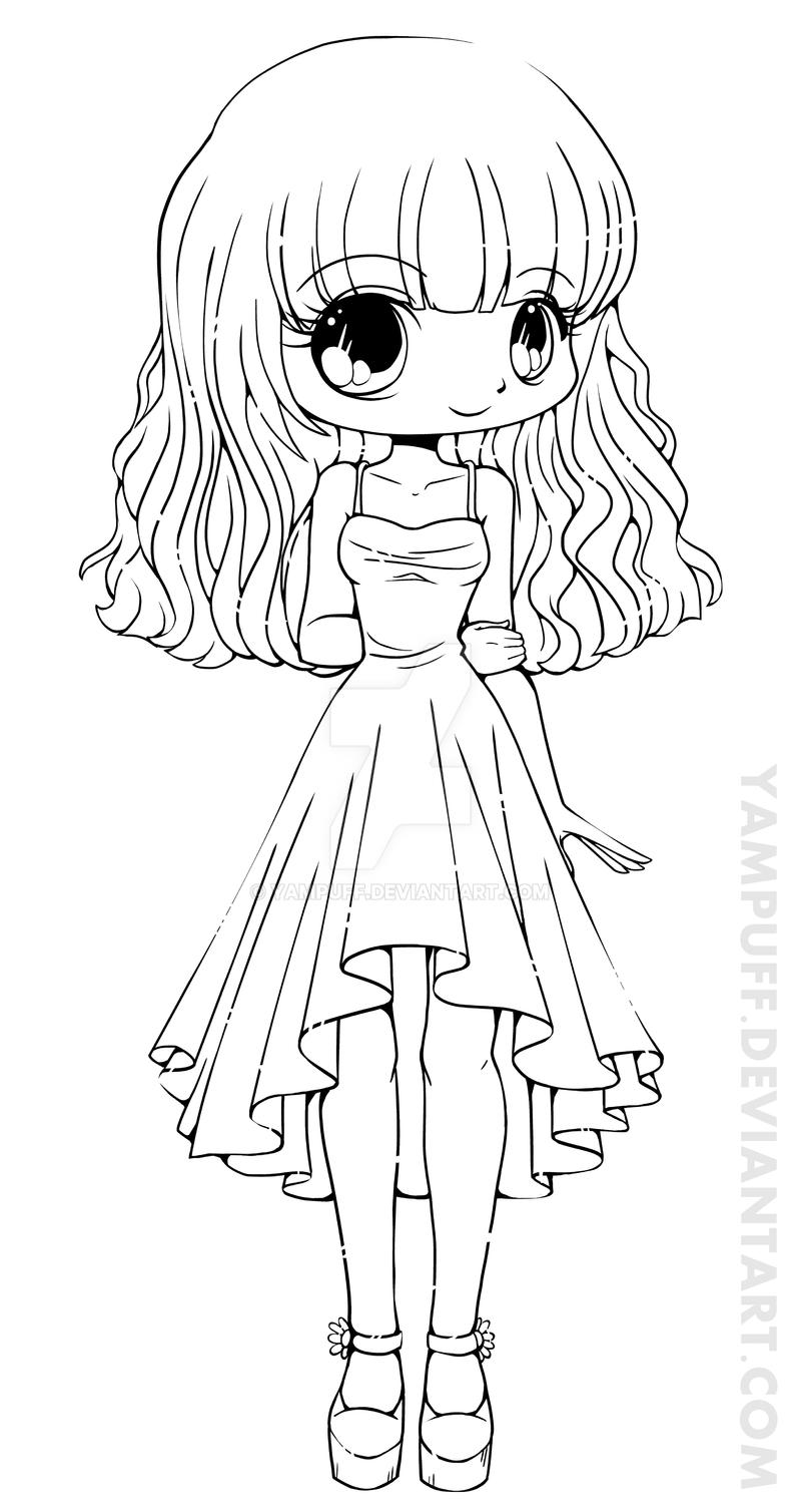 Teej Chibi Lineart Commission By Yampuff On Deviantart