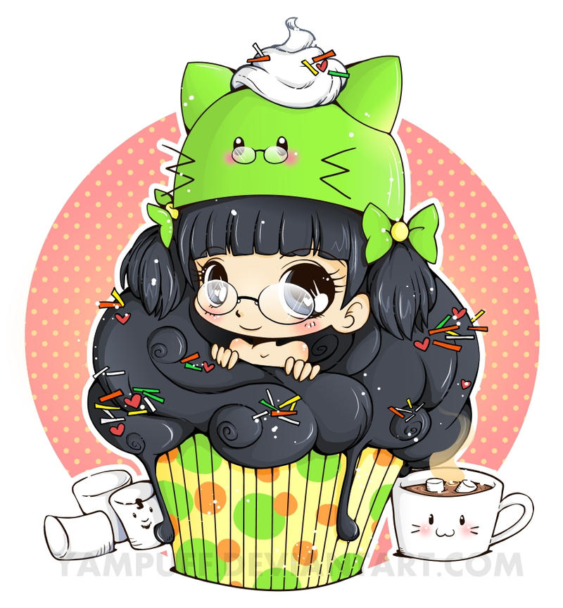 Razielle Cupcake Art Trade by YamPuff on DeviantArt