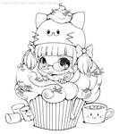 Razielle Cupcake Lineart :AT: