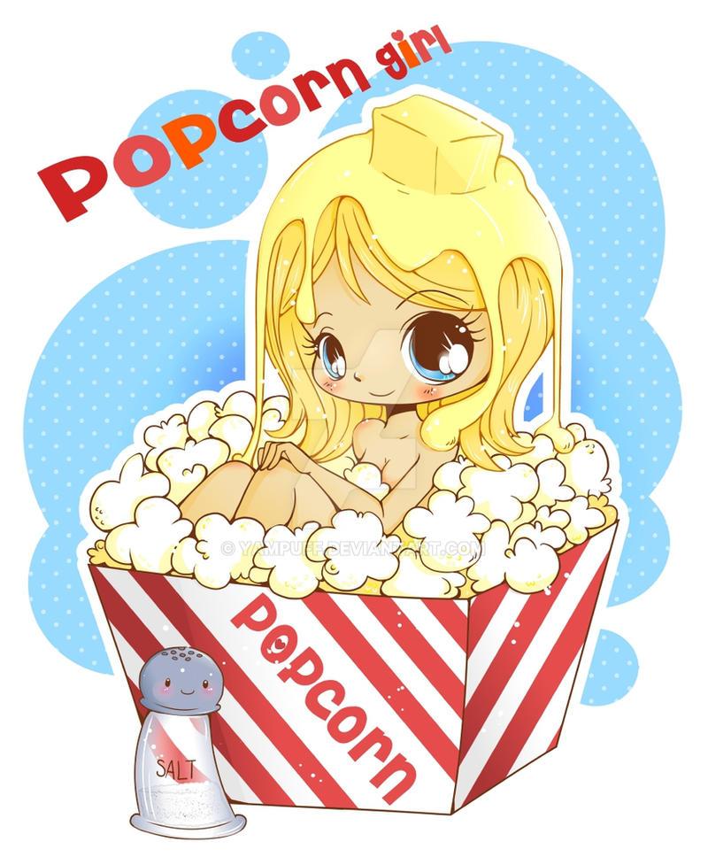 Chibi Popcorn Girl By YamPuff On DeviantArt