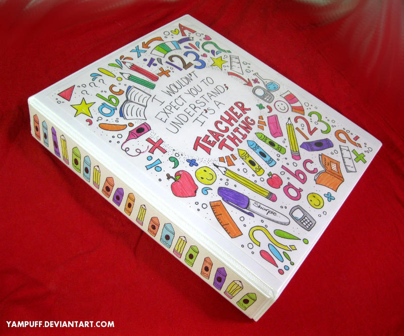 Cool Designs To Draw On Your Binder My Customised Binder b...