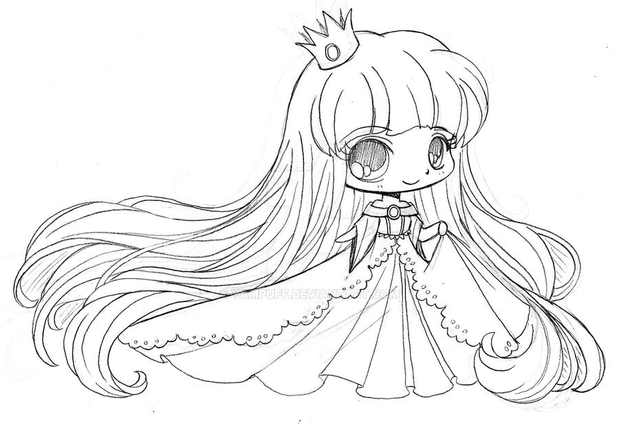 Little princess kiriban sketch by yampuff
