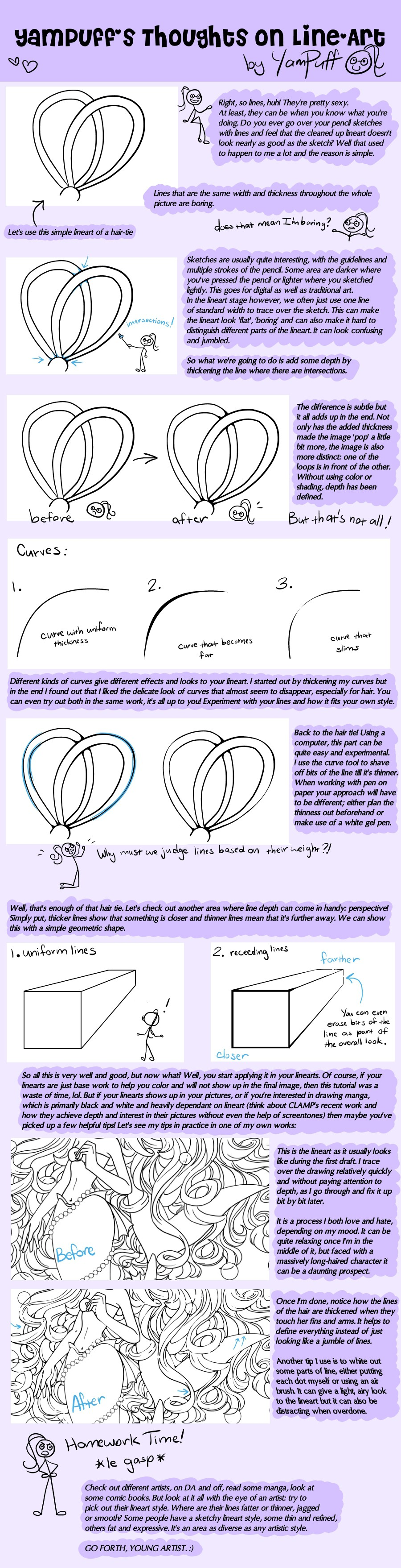 Line Art Tutorial by YamPuff