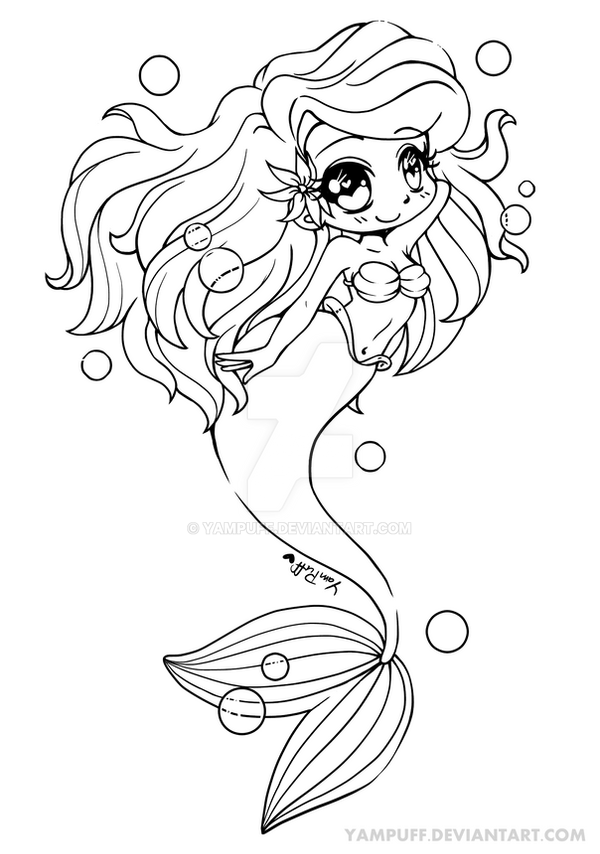Yam Puff Chibi Kleurplaat Ariel The Little Mermaid Mermay By Yampuff On Deviantart