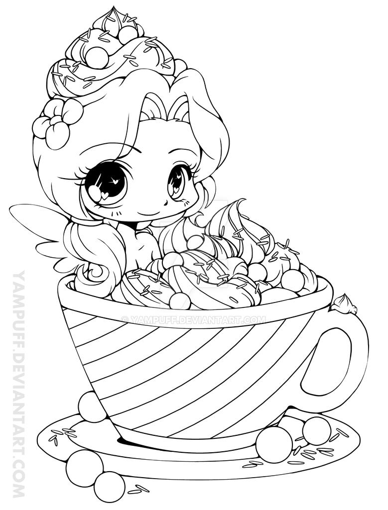Hot Cocoa Emiko - Lineart by YamPuff