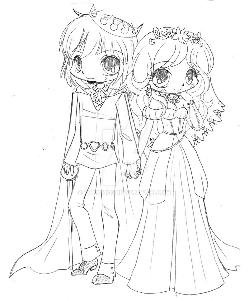 Anime Chibi Couple Sketch | www.pixshark.com - Images ...