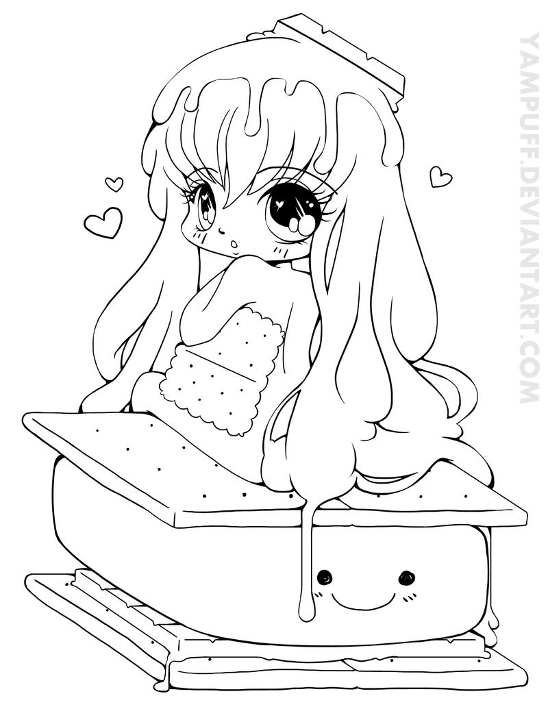 Food Chibi Coloring Pages Coloring