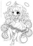 Truffle Girl Hazukia Lineart