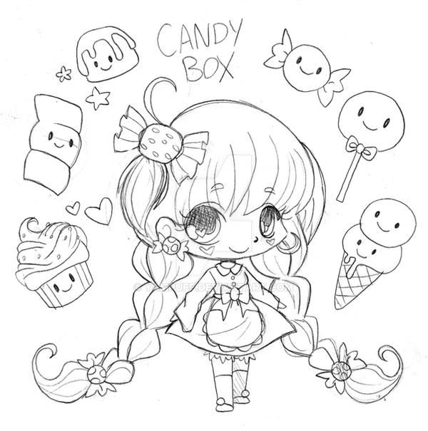 Candy Box Chibi Commission - Sketch by YamPuff on DeviantArt