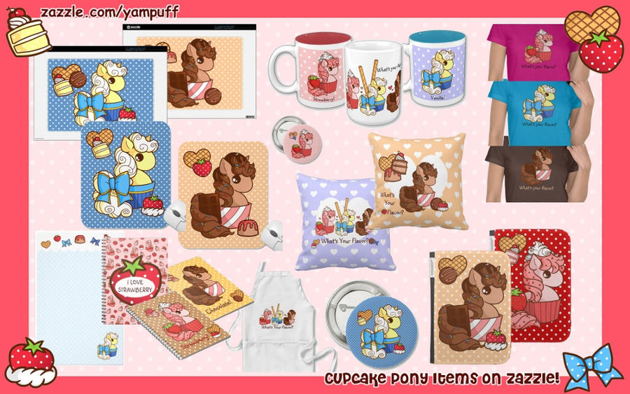 Cupcake Pony Items on Zazzle! by YamPuff