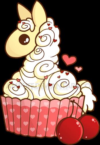 Cupcake Llama by YamPuff