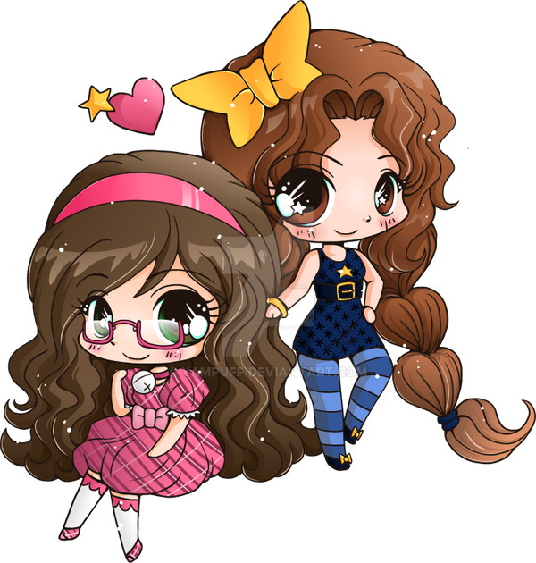 Bell And Star Mini Chibis Commission By Yampuff On