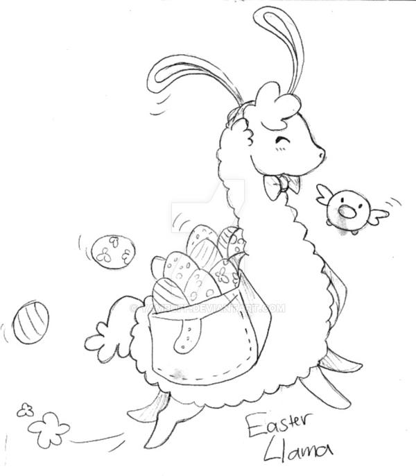 baby llama coloring pages - photo#18