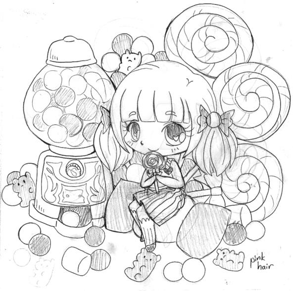 Candy box chibi commission sketch 2 by yampuff on deviantart for Yampuff food coloring pages