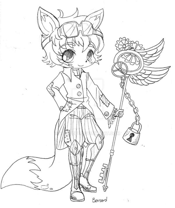 Yam Puff Kleurplaat Steampunk Bernard Sketch By Yampuff On Deviantart