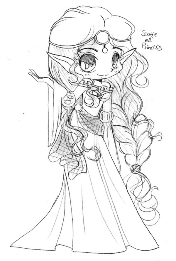 Scottish Elven Princess Sketch by YamPuff on DeviantArt