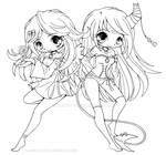 Suii and Iish Lineart