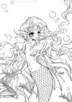 Mermaid Princess Lineart