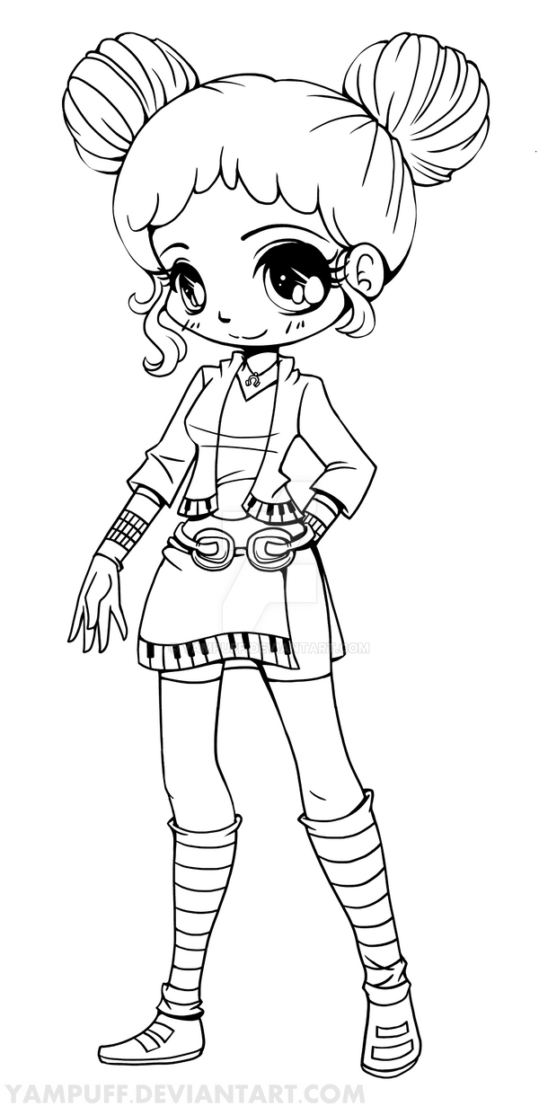 deviantart coloring pages - rhapsody chibi lineart commission by yampuff on deviantart