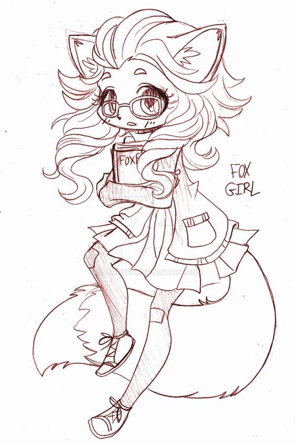 Fox Girl Drawing Fox Girl Chibi Commiss...