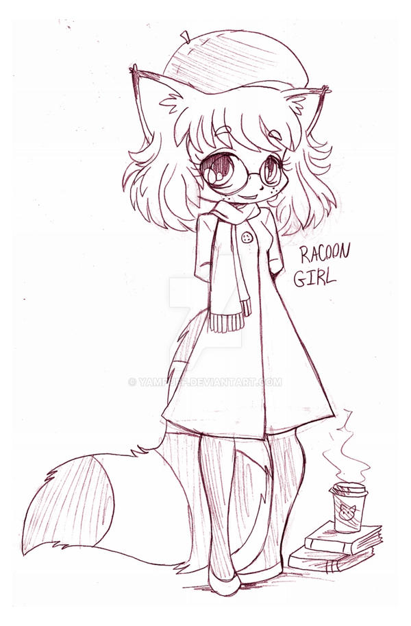 Raccoon Girl Chibi Commission By Yampuff On Deviantart