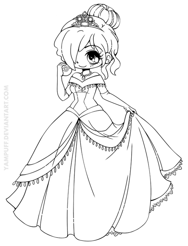 Chibi Yampuff Coloring Pages Cute Coloring Pages