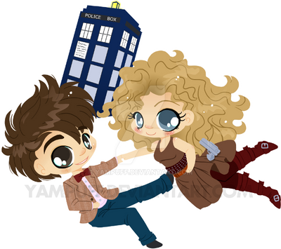 Doctor Who and River Song - Chibi Commission by YamPuff