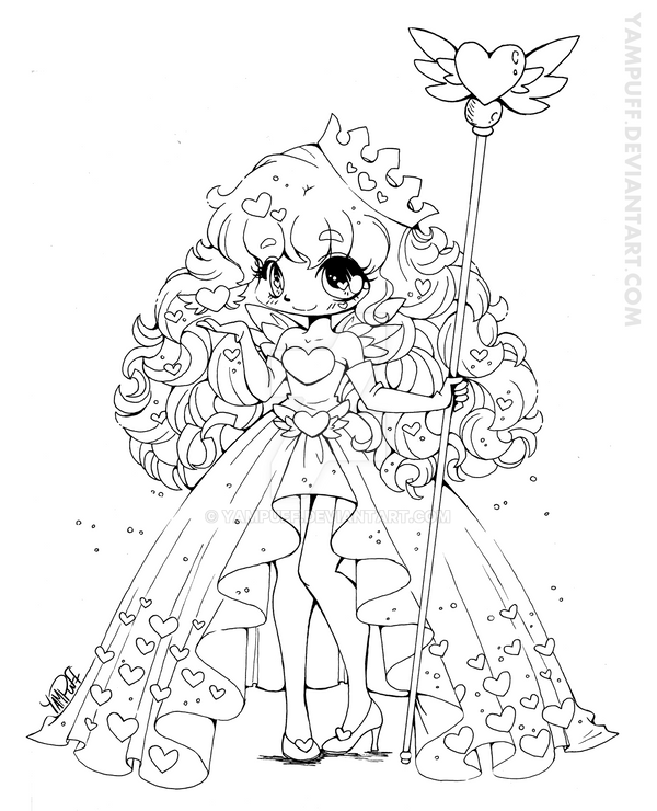Line Art Queen : Queen of hearts lineart by yampuff on deviantart