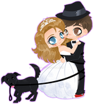 Wedding Chibis - Lineless Commission