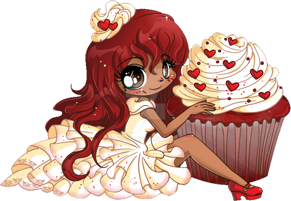 Red Velvet Chibi Cupcake Commission by YamPuff on DeviantArt