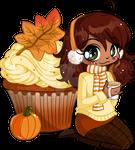 Pumpkin Spice Cupcake Chibi