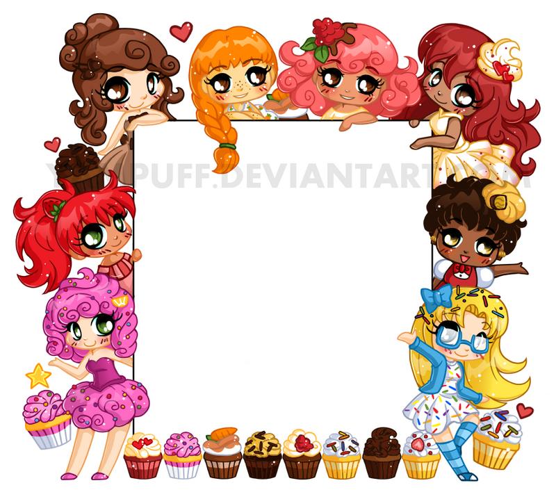 Chibi Cupcake Frame by YamPuff on DeviantArt