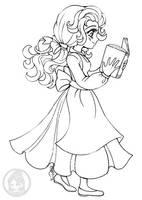 Disney's Belle ::Open Lineart:: by YamPuff