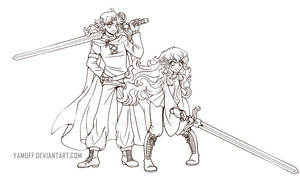 The Prince and The Princess ::Open Lineart::
