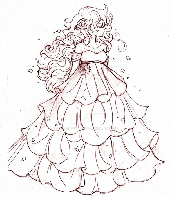 The Princess Diamante ::Sketch:: by YamPuff on DeviantArt Ugly Dresses