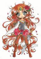 Saja - Rose Thorn Princess ::Watercolor:: by YamPuff