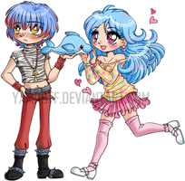 Xavern and Shurei ::Kiriban:: by YamPuff