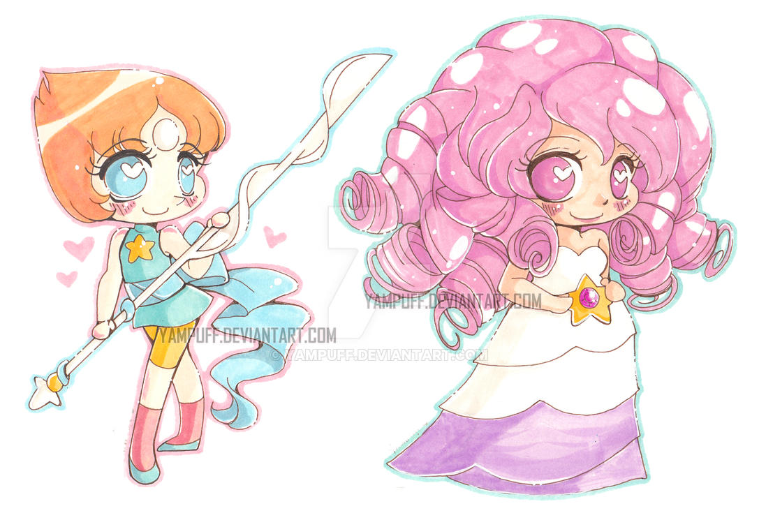 Pearl and Rose by YamPuff