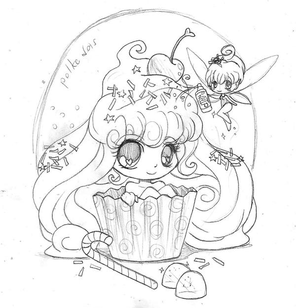cupcake girl and frosting fairy by yampuff on deviantart