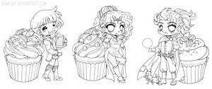 Cookbook Chibi Linearts :Commission::
