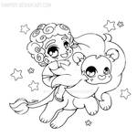 Steven and Lion ::Open Lineart::