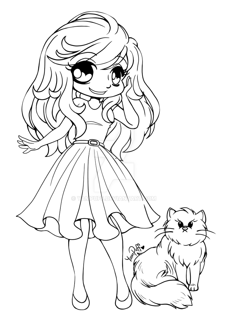 Alyce And Lila Bear Open Lineart By YamPuff On DeviantArt