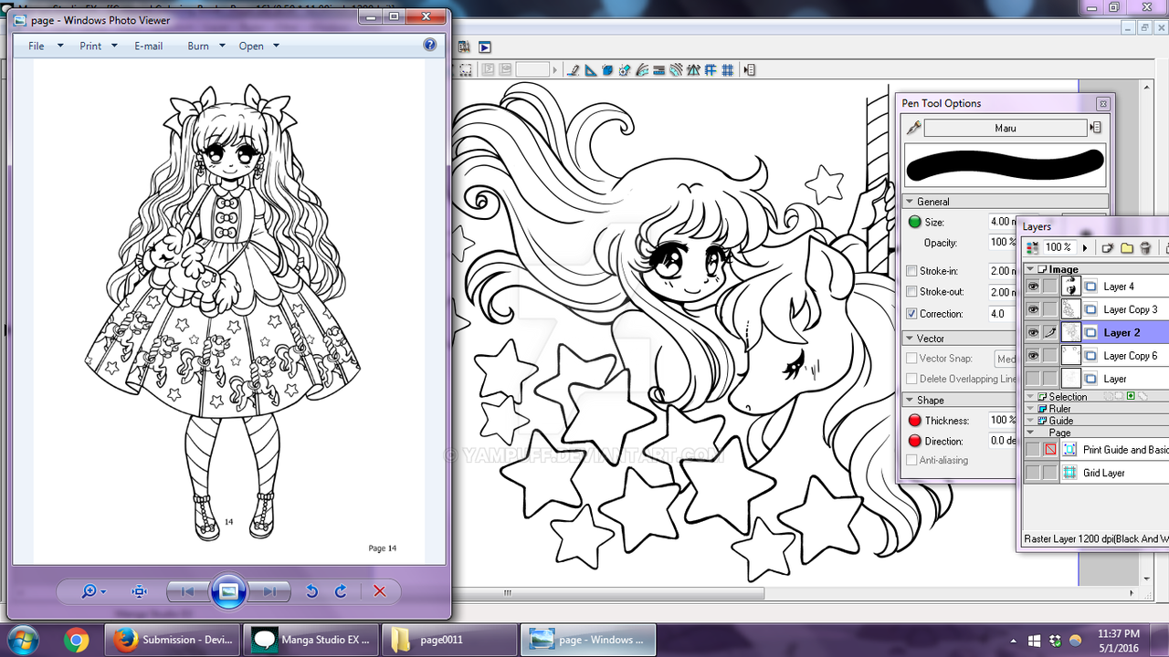 Coloring book software -  Carousel Coloring Book Wips 3 By Yampuff